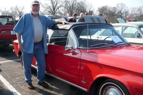 Paul & Rebecca's red Corvair